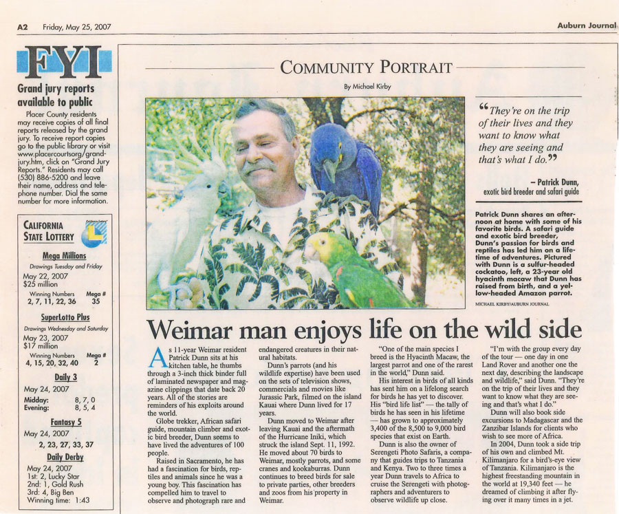 Newspaper-article_Weimar-man-enjoys-life-on-the-wild-side
