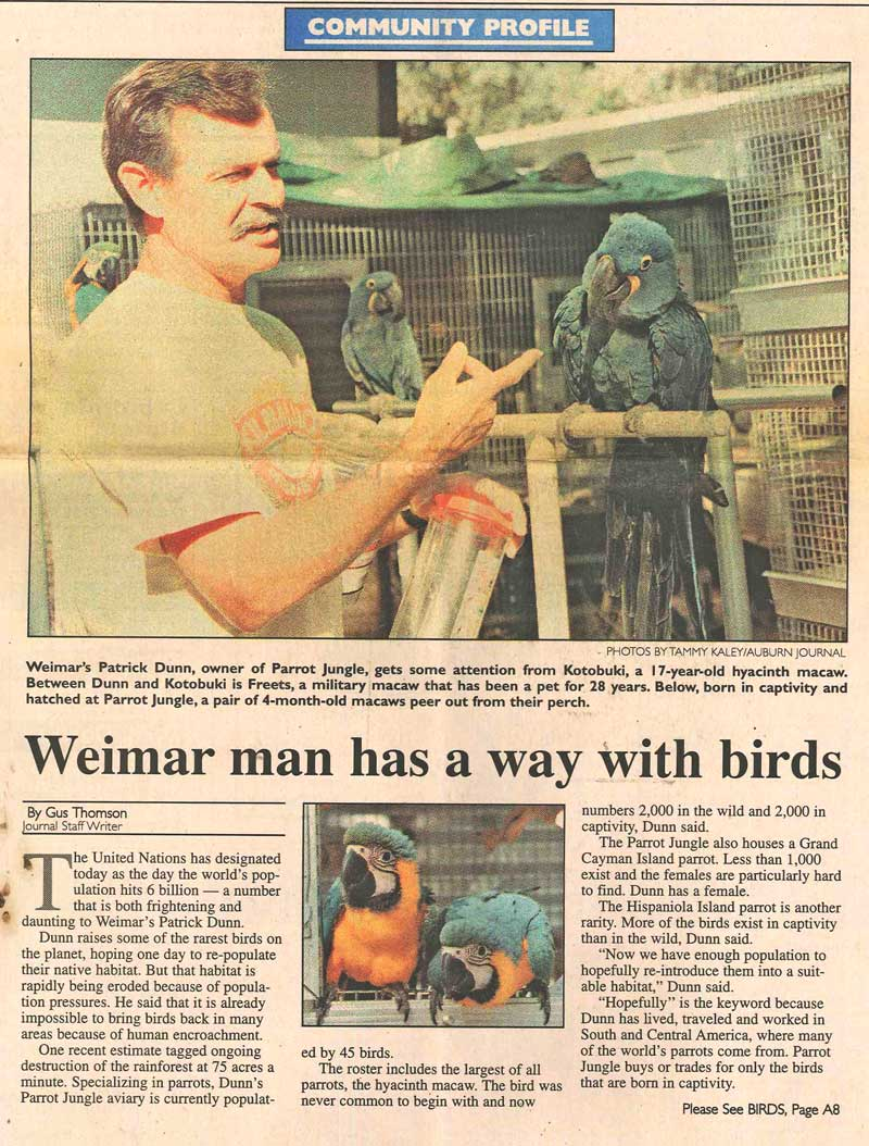 Newspaper_article_Part-1-of-Weimar-man-has-a-way-with-birds