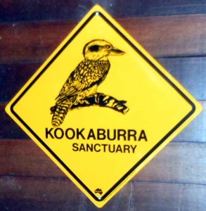 Kookaburra sign on Ave Azul's Farm Osa Peninsula